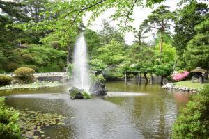 千秋公園の日本庭園