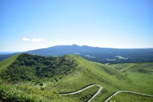 寒風山山頂からの景色