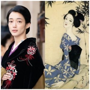 希穂子と竹久夢二の美人画