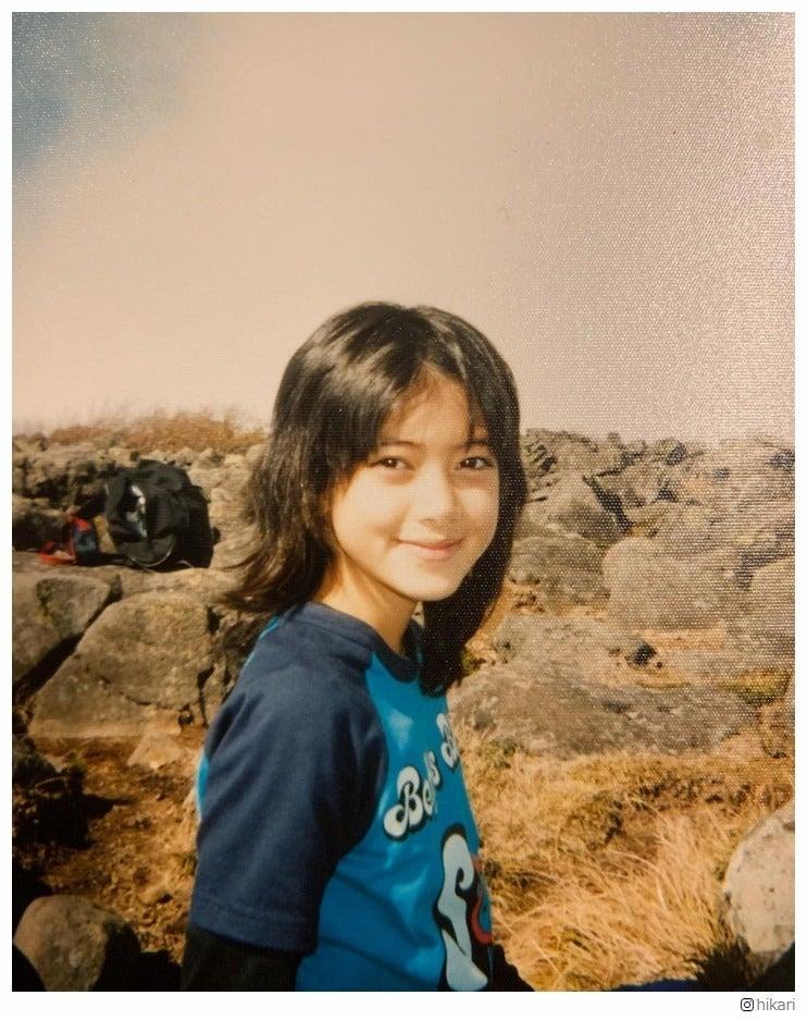 森泉さんの幼少期の写真
