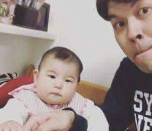 土佐卓也さんと長女・明日香ちゃん