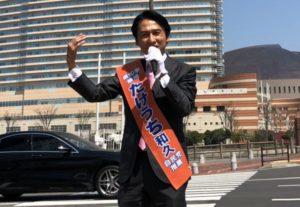 たけうち和久さんの演説の様子