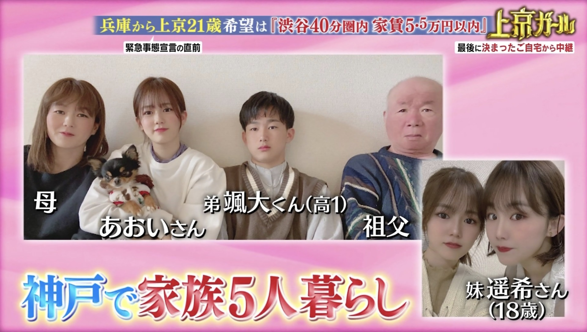 川口葵さんの家族写真
