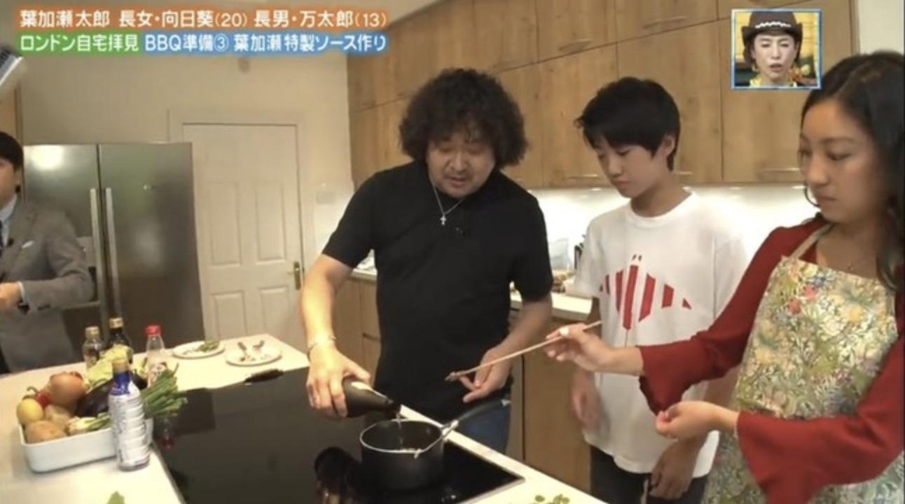 葉加瀬太郎さんの自宅のダイニングキッチン