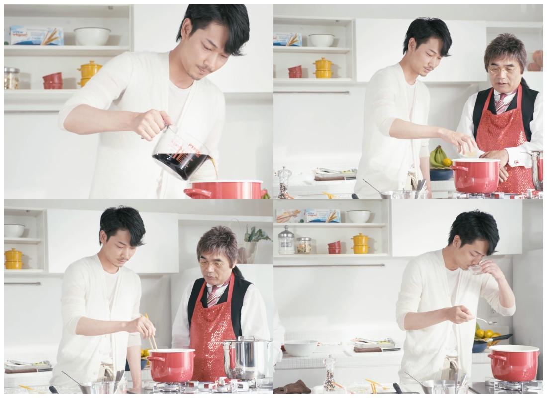 綾野剛さん料理の様子