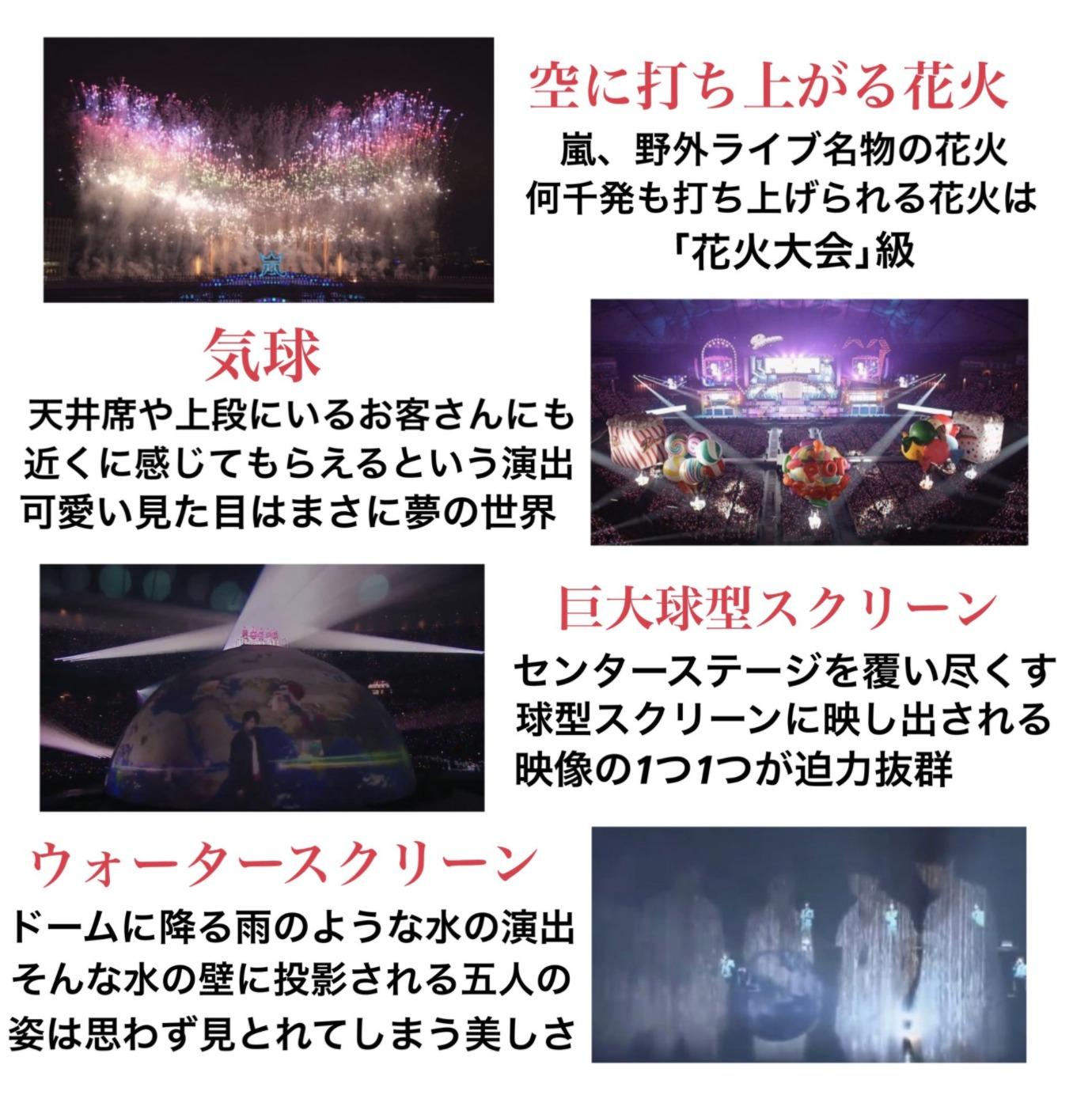 嵐のコンサート演出例