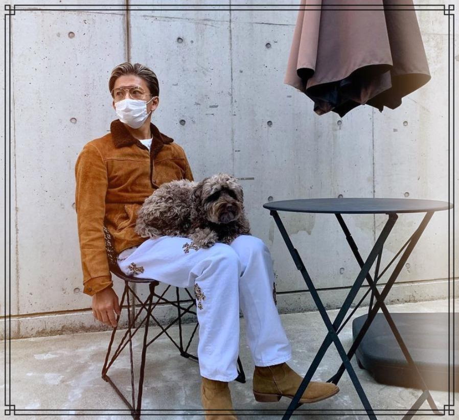 愛犬アムと木村拓哉さんの画像