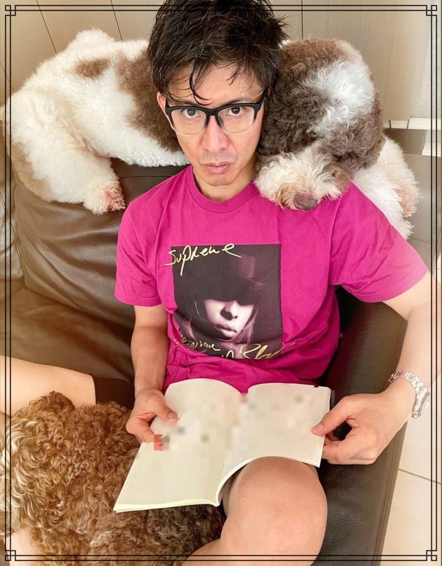 愛犬アムとエトワールと木村拓哉さんの画像
